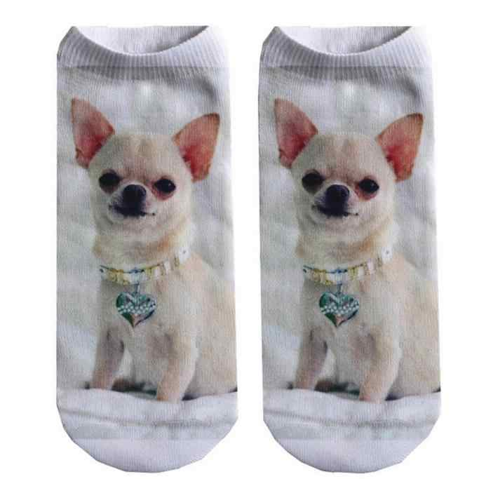 Одежда дамы мужчины 3D печать животных дамы милый кот низкая помощь носки удобные повседневные весело хлопковые носки-тапочки короткие носки