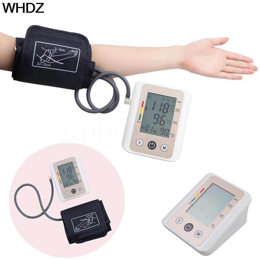 d7cfb6cf6 Hot Russo Voz Braço Superior Digital Blood Pressure Monitor Cardíaco Bata  Medidor Sphygmomanometer Tonômetro De Medição do Medidor Automático em  Monitores ...