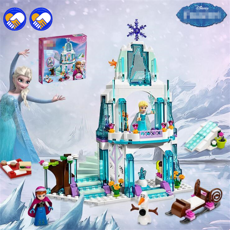 A toy A dream Girl Series SY373 Elsa's Sparkling Ice Castle Anna Elsa Queen Kristoff Olaf Building Blocks Toys dream a dream лежебоки розовый