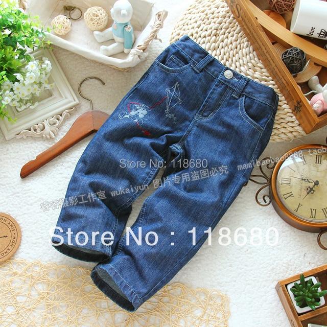 Бесплатная доставка в розницу новые 2015 детская одежда весна осень детские джинсы детей брюки девушки свободного покроя брюки дети джинсовые брюки
