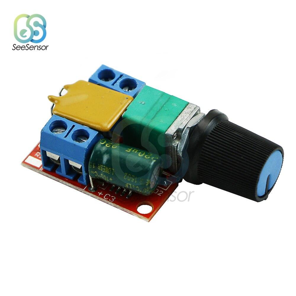 DC Motor Speed Control Driver Board Switch 3V-35V 5A PWM Controller Stepless DC 3V 6V 12V 24V 35V Voltage Regulator LED Dimmer