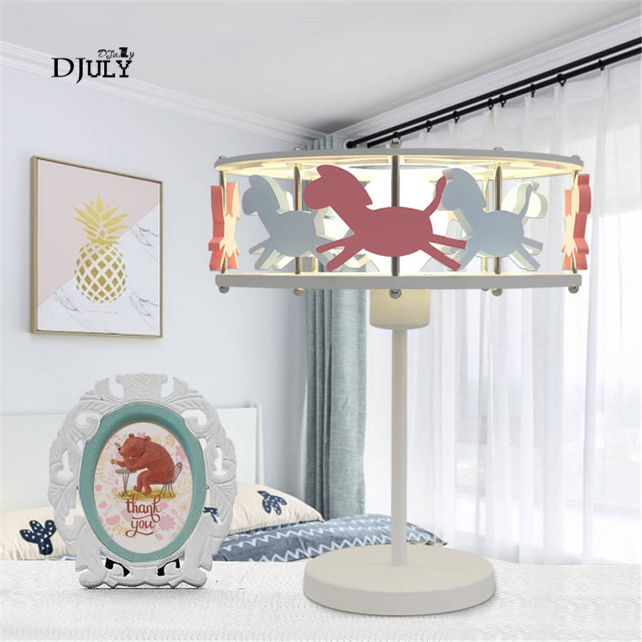cartoon Merry-go-round children table lamp kids bedroom bedside lamp home deco living room led table light creative holiday giftcartoon Merry-go-round children table lamp kids bedroom bedside lamp home deco living room led table light creative holiday gift
