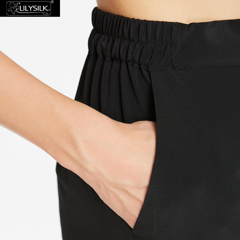 30b548e34 LILYSILK Pants Women s Silk 18mm Black Elastic Waist -in Pants   Capris  from Women s Clothing on Aliexpress.com