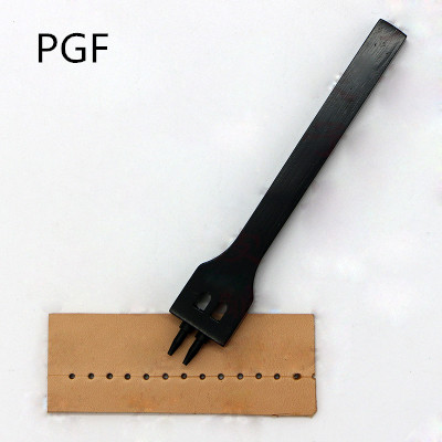 PGF 2 črna luknja zaokrožena z razmikom 3 mm usnjena orodja za rezanje