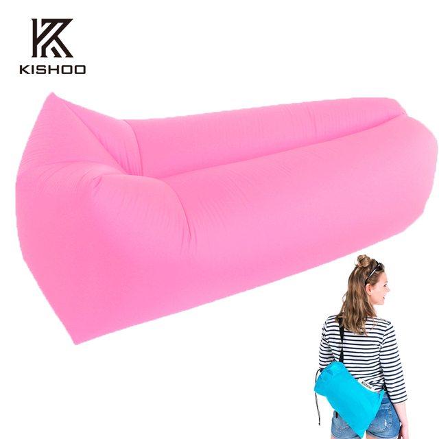 High quality Inflatable lazy sofa in sleeping bag lazy bag sofa lounger air bean bag chair inflatable camping air sofa