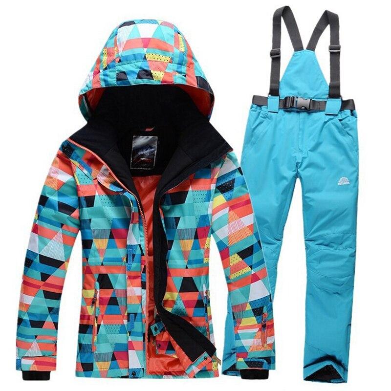 High Quality font b Women b font Ski font b Suit b font Sets Windproof Waterproof