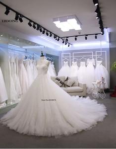 Image 3 - מקסים אונליין מתוקה שנהב שרוולים שמלות כלה Vestidos דה Novia תפור לפי מידה הכלה שמלה עם תחרת אפליקציות