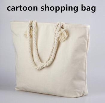5PCS/LOT White Cotton Handbag Large Size 46*40*10cm Gift Bag Free Shipping