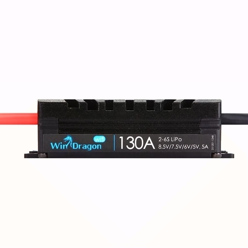 FATJAY Flycolor WinDragon ESC 40A 60A 80A 100A 130A fonction inverse bidirectionnelle 2-6 s BEC réglable sortie wifi APP programmation - 5