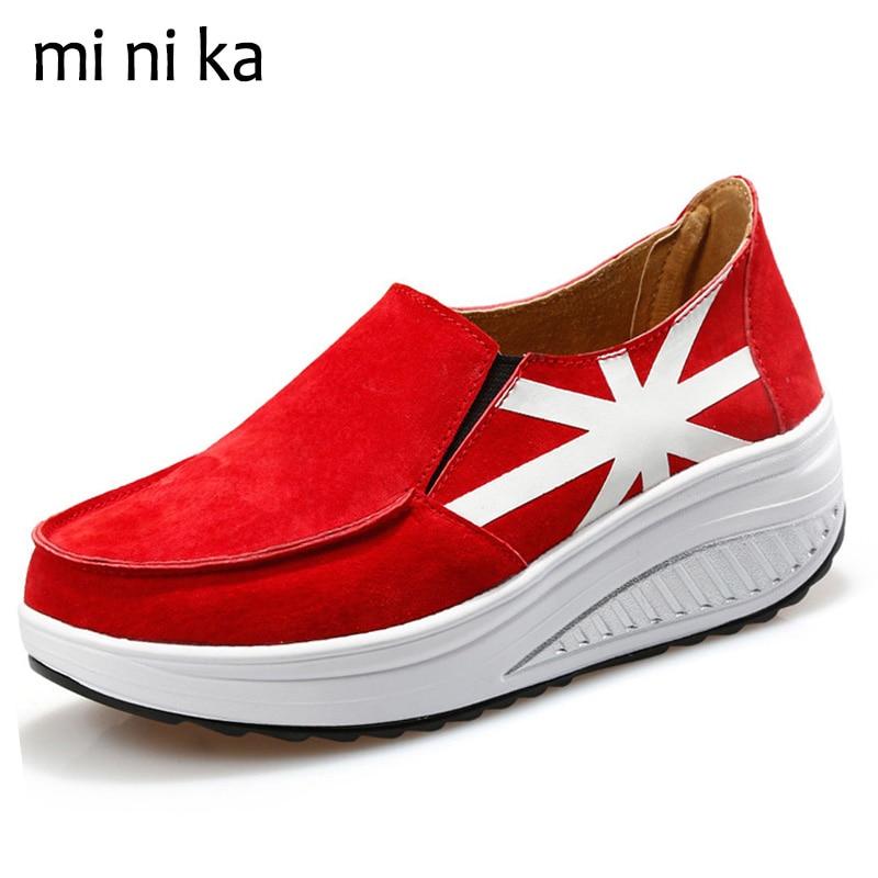 MINIKA Suede Genuine Leather Women Flats Slip On Platform Women Flat Shoes New 2017 Spring Autumn Casual Female Loafers SNE-778 мужская футболка gildan slim fit t tee lol 14415