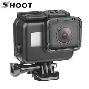 Image 1 - לירות 45m מתחת למים עמיד למים מקרה עבור Gopro גיבור 7 6 5 שחור 3 + 4 פעולה מצלמה מגן כיסוי דיור Pro עבור 7 5