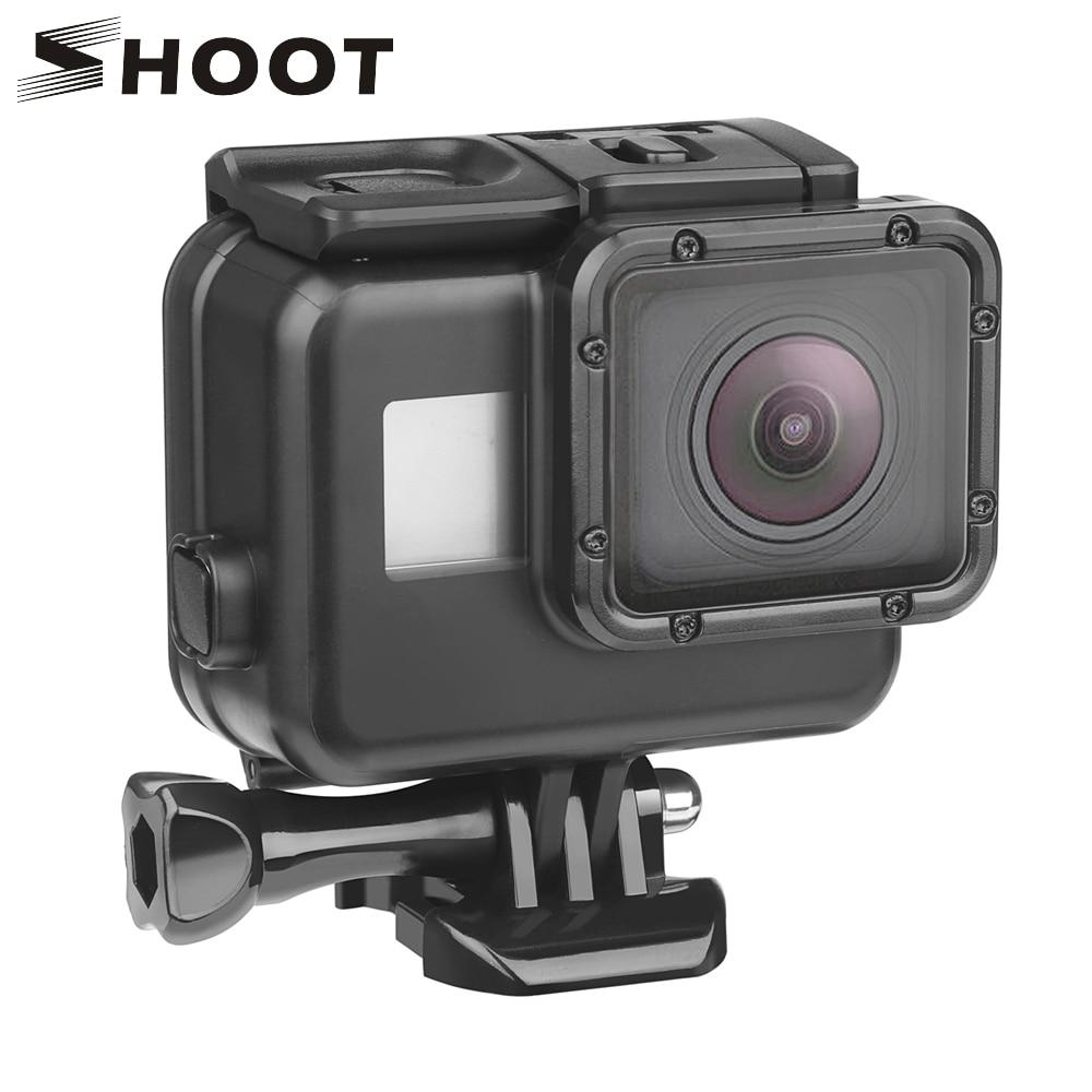 SCHIEßEN 45 m Unterwasser Wasserdichte Fall für Gopro Hero 7 6 5 Schwarz 3 + 4 Action Kamera Gehen Pro 5 Schutzhülle für GoPro Zubehör