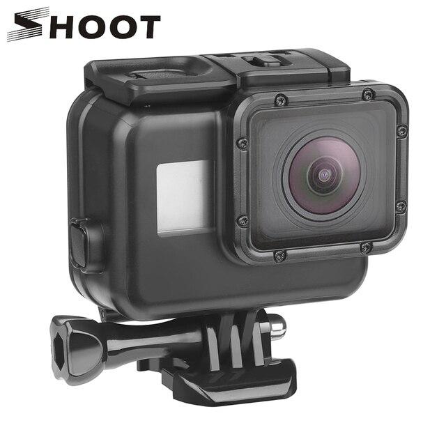 SHOOT 45 m Подводный Водонепроницаемый чехол для Gopro Hero 7 6 5 черный 3 + 4 Экшн-камера Go Pro 5 защитный чехол для GoPro Аксессуар