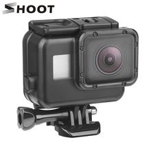 цена на SHOOT 45m Underwater Waterproof Case for Gopro Hero 7 6 5 Black 3+ 4 Action Camera Go Pro 5 Protective Case for GoPro Accessory