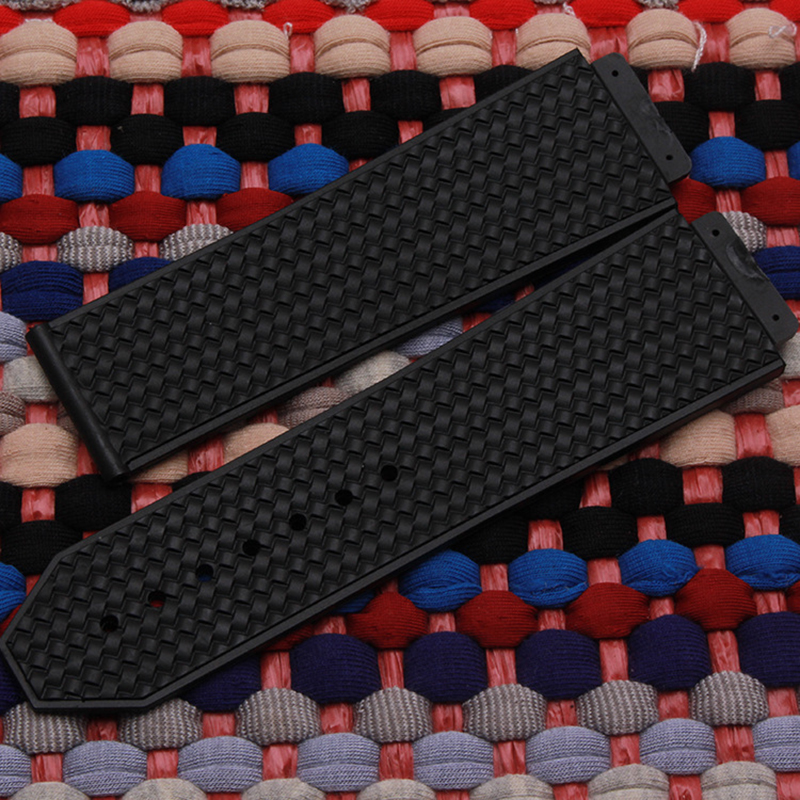 Watch accessories for HUBLOT silicone / rubber / PU waterproof watch Straps with male big bang 25 * 19mm weaving