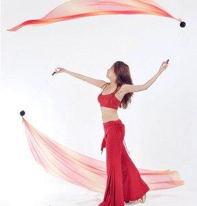 Image 2 - 2 قطعة الحجاب 2 قطعة POI سلسلة الكرة 2.0 متر * 0.7 متر متعدد الألوان الرقص الحجاب ملابس رقص البطن الإكسسوارات شحن مجاني