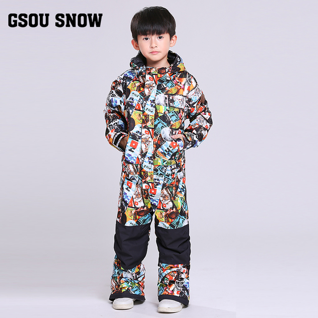 f85237c55175 Gsou boys one piece ski suit children s snow ski suits for girls ...