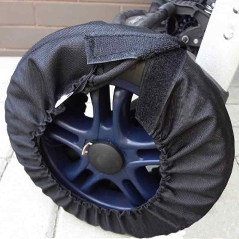 1pc  Useful Baby Stroller Wheel Covers Dustproof Cover Protective Floor Baby Carriage Pram Stroller Wheel Covers