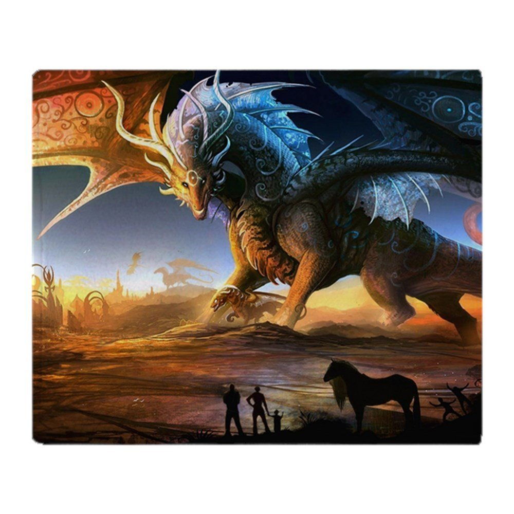 Personalized World Of Dragons Soft Fleece Throw Blanket