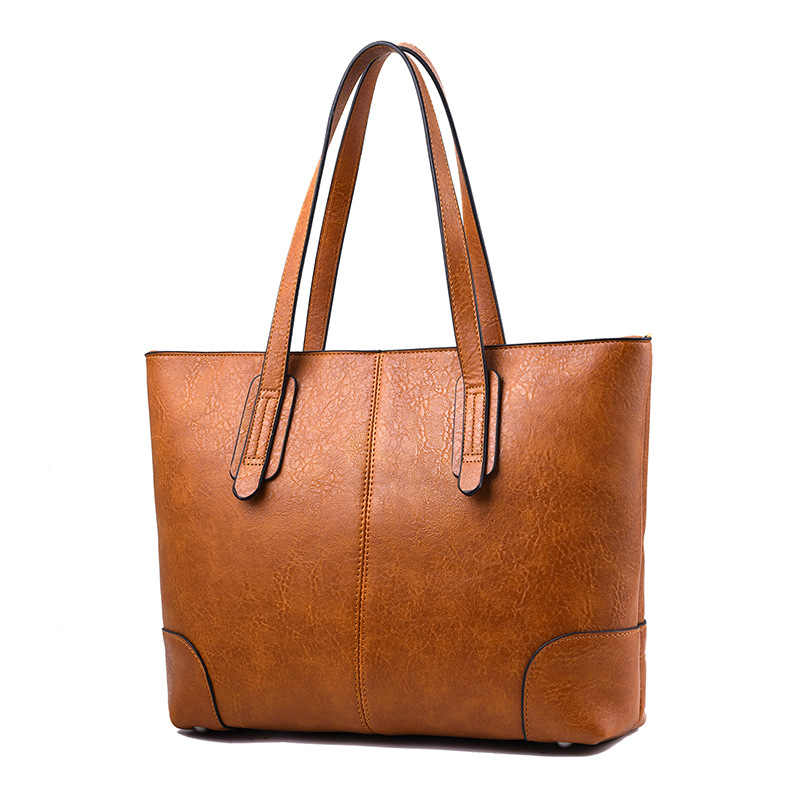 Bolso de hombro de cuero de PU de gran capacidad de Oficina de las señoras de moda bolso de mano para las mujeres negro gris marrón rojo verde