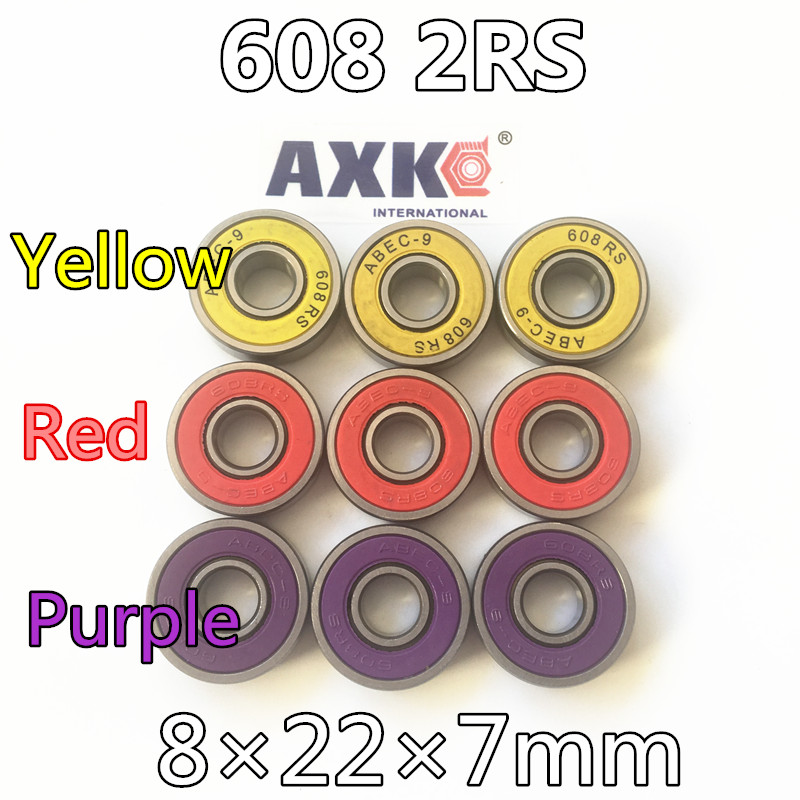 Free Shipping 608rs 608 2rs 608 Bearing Abec-9 8*22*7 Mm 8x22x7 Mm Skateboard Ball Bearings Emq Z3v3 608-2rs 608rs Bearing free shipping skateboard bearing 16pcs lot 608rs 608 2rs 608 ilq 9 pro bearings cover rubber seals