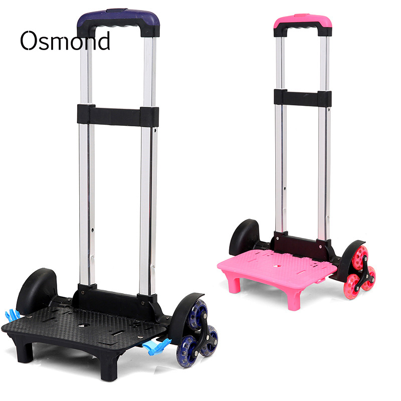 Osmond Travel Accessories 6 Wheels&2 Wheels Rolling Cart Removable Trolley Kids Schoolbag Luggage Carts for Girls and Boys 10 inch professional wear resistant pu wheels for carts trailers puncture proof solid wheelbarrow trolley tyre wheels