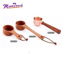 Natural Wood Coffee beans Spoons Scoop For Tea Small Sugar Salt Flatware Tools Kitchen Supplies 1Pcs