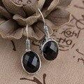Deer King Silver Earrings Jewelry Wholesale S925 silver inlaid Black Onyx Earrings antique crafts