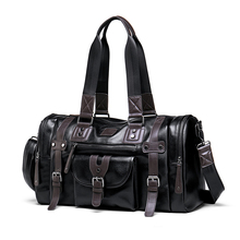 LIELANG Travel Bag Handbag Mens Sports Fitness Casual Tourism Large Capacity Leather