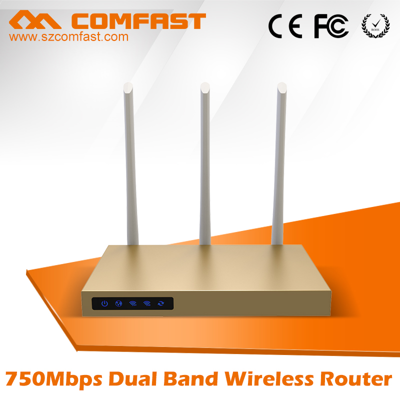 COMFAST 750Mbps Dual Band 802.11ac wireless ac wifi router with 3*6dBi antennas build-in 3PA  CF-WR630AC high power wifi router цена и фото