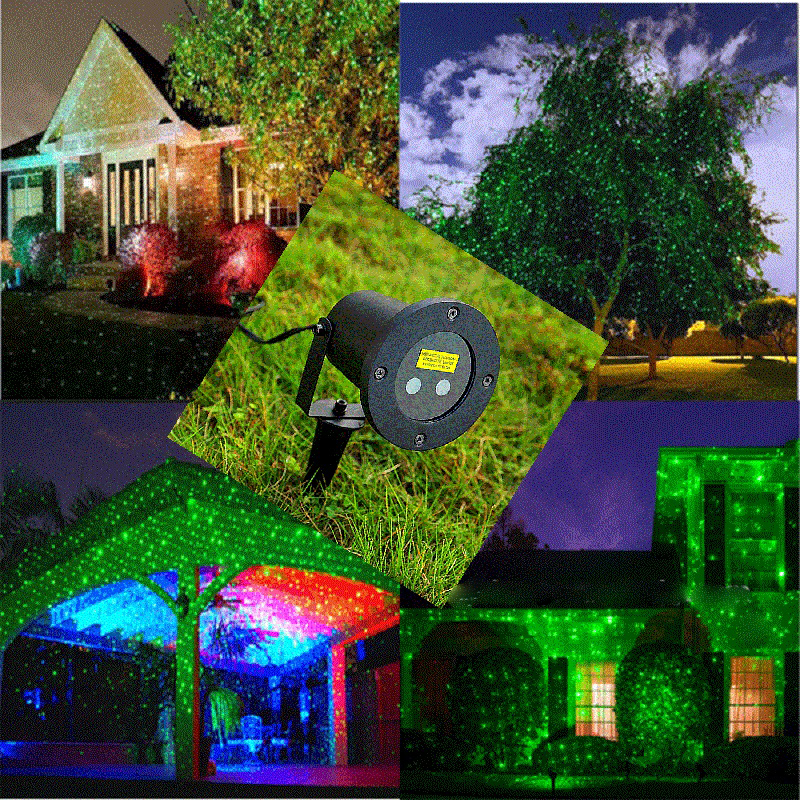 Outdoor Laser Christmas Light Show Projector with Remote staticStar ...