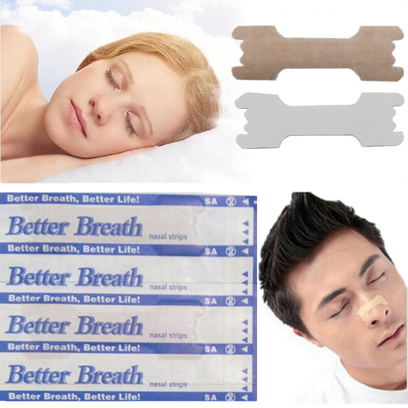 50 Pcs Breathe Right Better Nasal Strips Right Way To Stop Snoring Better Breathe Anti Snoring Strips Easier Health Care