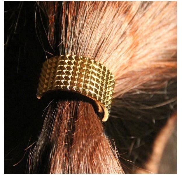 (Min order $10mix)Choking mouth peppers European catwalks semicircular metal hair band hair accessories hair rope
