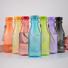 550ml Water Bottle Transparent Plastic Heat Resistant Leakproof Bottles Kids Drink Outdoor Climbing Portable Kettle