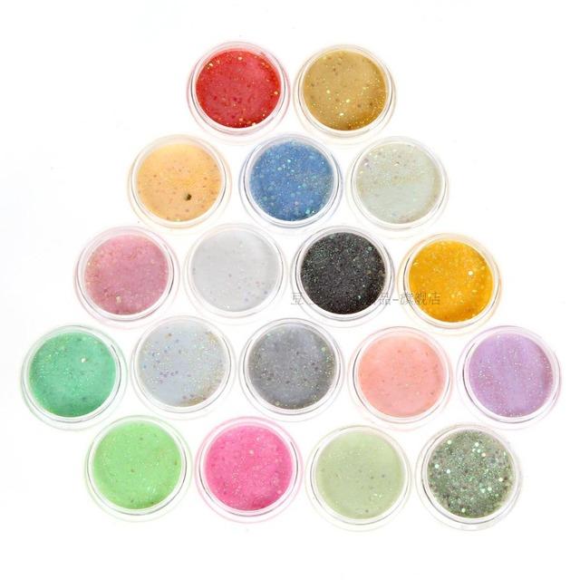 Nail Art Acrylic Powder 12 colors/box Acrylic Powder Glitter UV Gel Polish Nail tips Nail decoration tool