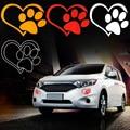 3 шт. Милый Кот Собака Paw Print Светоотражающие Автомобиля Стикер Decal Окна Footprint Logo Этикета DXY