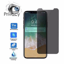 Premium Privacy Tempered Glass For iPhone 6 6s 7 8 Plus 5 5S Anti Screen Protector XS MAX XR X