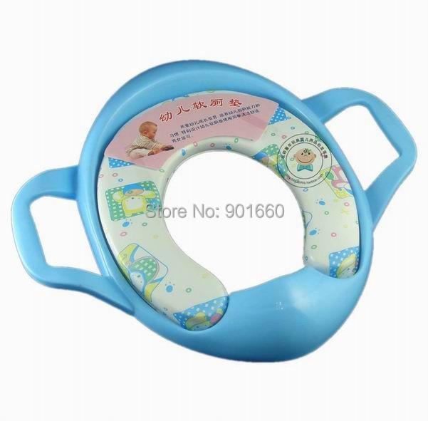 Bebê Potty Training assento com alças respingo protetor macio acolchoado