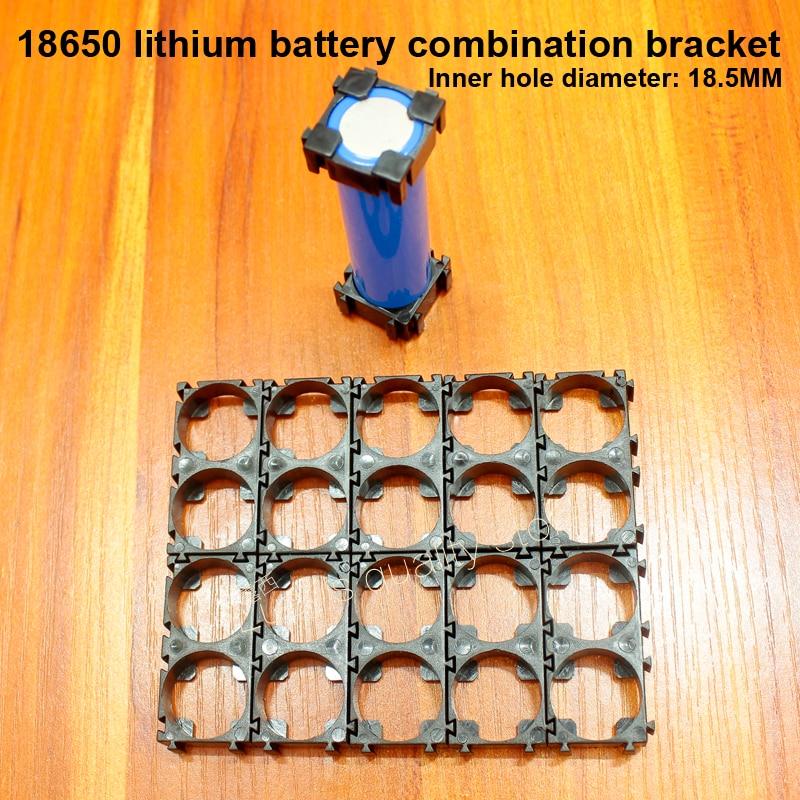 Купить с кэшбэком 10pcs 18500 18650 Lithium Battery Combination Holder Combination Snap ABS Flame Retardant Universal Combination Mounting Bracket