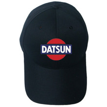 aed02619476 DATSUN Hat Baseball Cap Snapback Trucker Mesh Black Rope Adjustable Nissan  LIDS