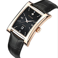Men Watch Ultra Thin Square Watches Quartz Watches Waterproof Man Business Leather Wrist Watches Relogio Masculino Luxury