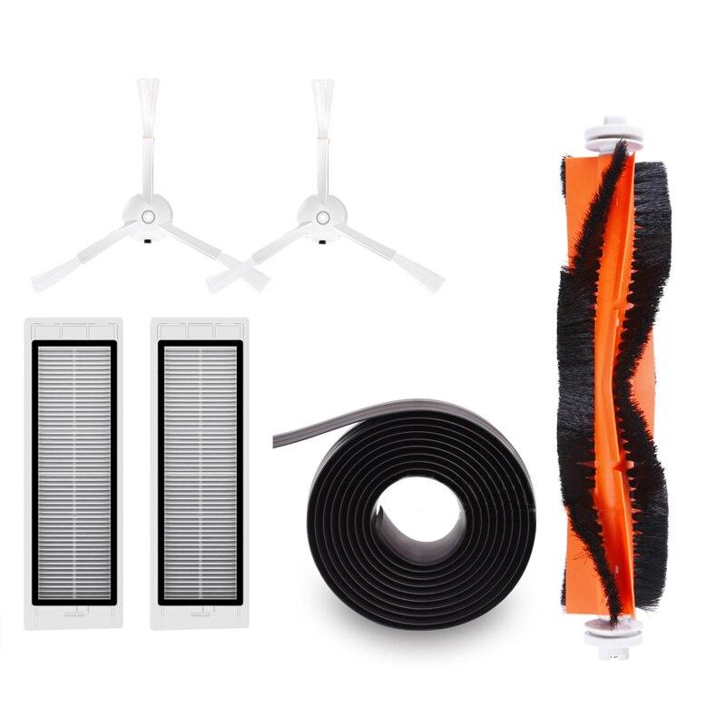 купить Vacuum Cleaner Spare Parts for Xiaomi Roborock Mi Robot Kits 2pc Filter 2pcs Side Brush 1pc Main Brush 1pc Virtual Magnetic Wa онлайн