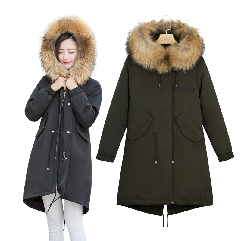 2017 Winter Fashion Women Jacket Faux Fur Long Parka hooded Space Cotton padded New Casual Warm Brand Coat manteau femme hiver bishe women winter down jacket warm long parka femme 2017 faux fur collar hooded cotton padded parkas female manteau femme 4xl