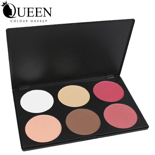 6 Colors Brand  Makeup Blush Palette in Matte Face Blusher Powder Palette  makeup AB06