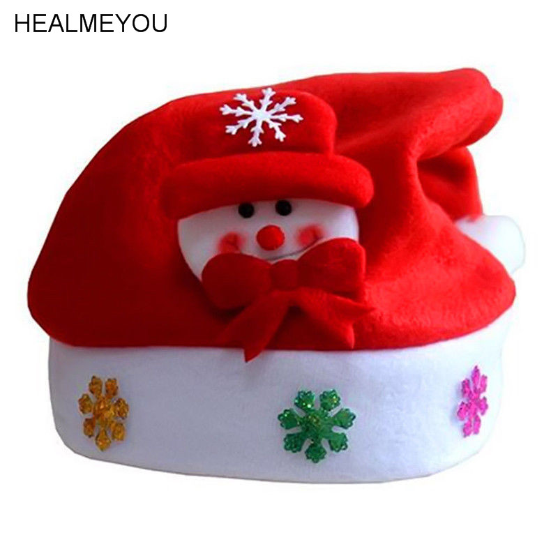 Kids Cheer  Hat Children Santa Claus Reindeer Snowman Party Cute Cap cheer