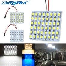 C5W светодиодная гирлянда BA9S T4W T10 W5W светодиодные лампы 48SMD Панель Купол Чтение светильник карта лампа автомобиля Подсветка Салона Авто 12V белого и синего цвета