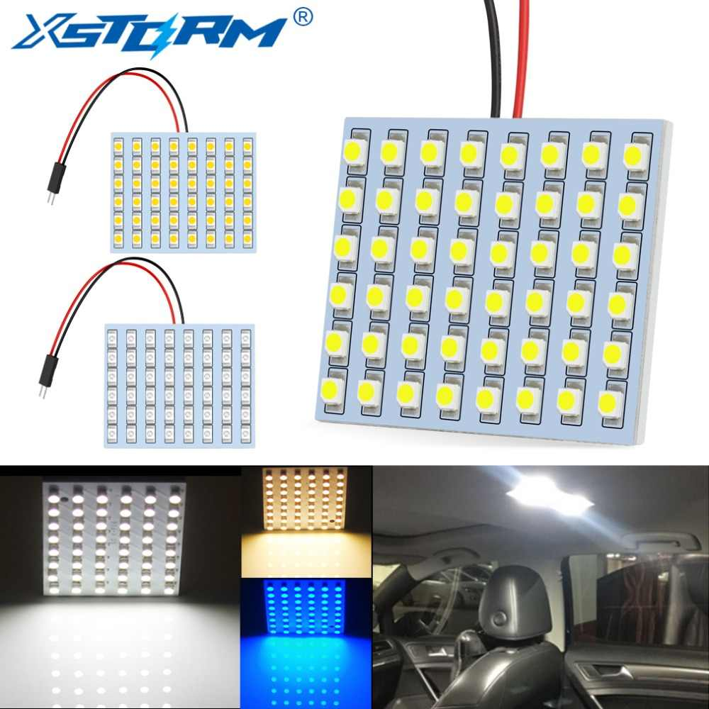 C5W Led Festoon BA9S T4W T10 W5W Led Bulb 48SMD Panel Dome Reading Light Map Lamp Car Interior Lights Auto 12V White Blue