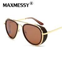 MAXMESSY Classic Lady Oversized Pilot Sunglasses Women 2017 New Brand  Sun Glasses For Men Big Glasses Frame Eyeglasses MG005