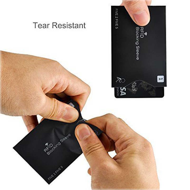 10 шт./компл. Противоугонная RFID визитница для банковских карт RFID фиксирующий манжет идентификационный Противоугонный защитный чехол для карт