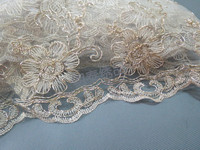 Fashion Lace Fabric Width 120cm Gold Thread Embroidery Lace Fabric High End Women S Fabric DIY
